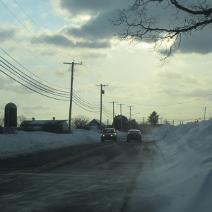 Heading home on the Adamsville Road, Little Compton RI, 2/19/15