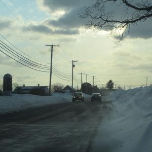 Heading home on the Adamsville Road, Little Compton RI, 2/19/15